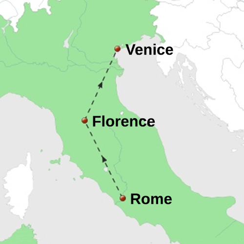 how to travel from rome to venice to florence
